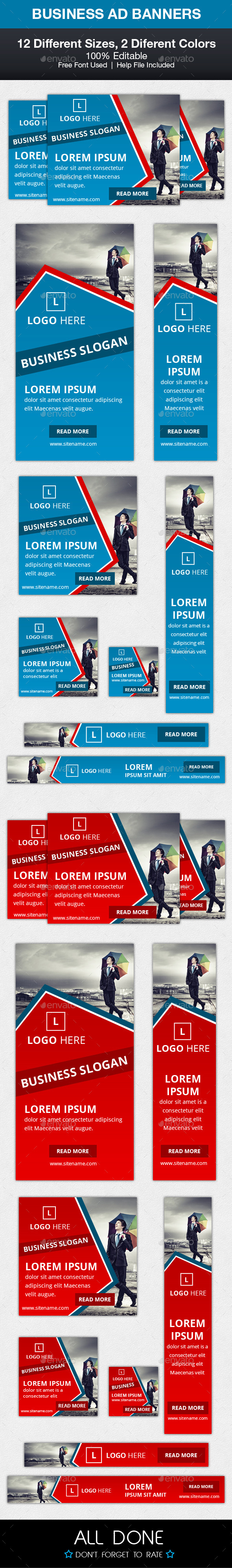 Business Ad Banners - Banners & Ads Web Elements