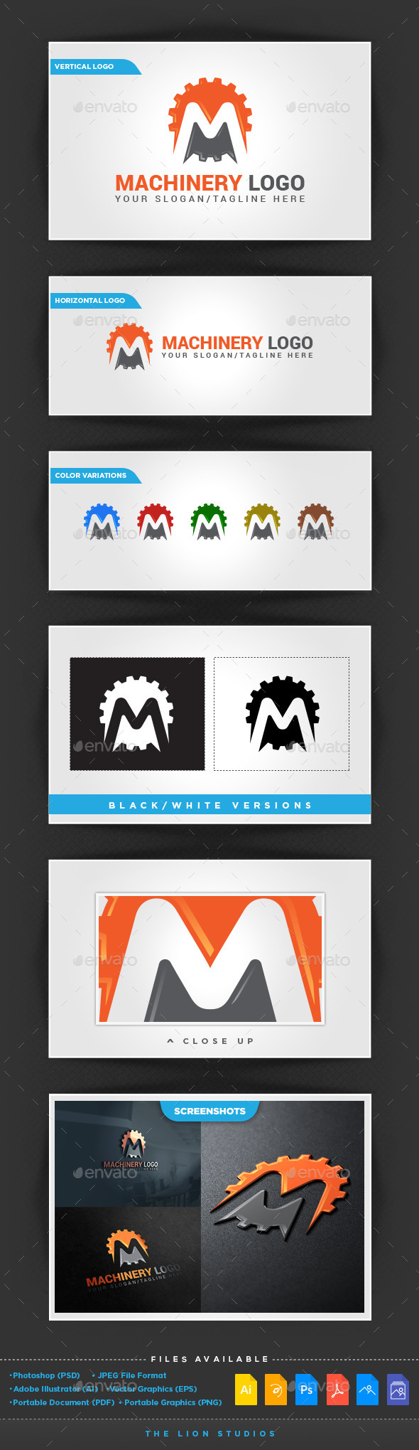 Machinery Logo Template - Letters Logo Templates
