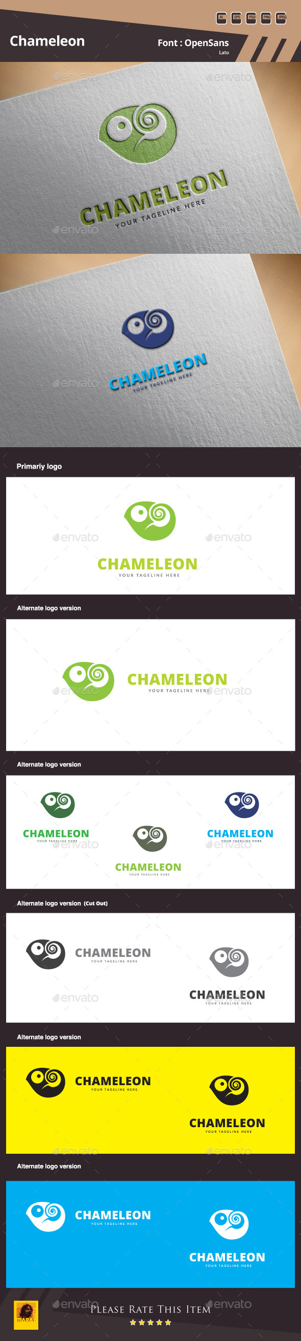 Chameleon Logo Template - Animals Logo Templates