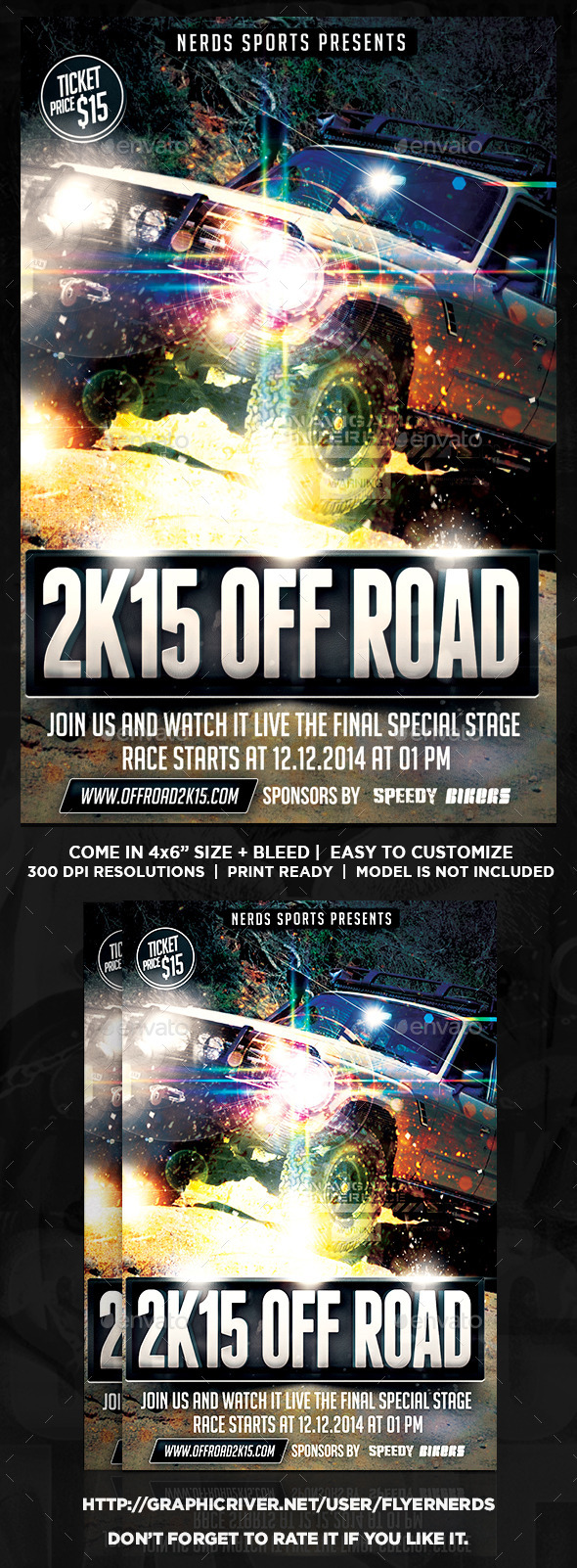 Off Road 2K15 Exhibition Sports Flyer - Sports Events