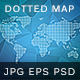 Dotted Wold Map Vector