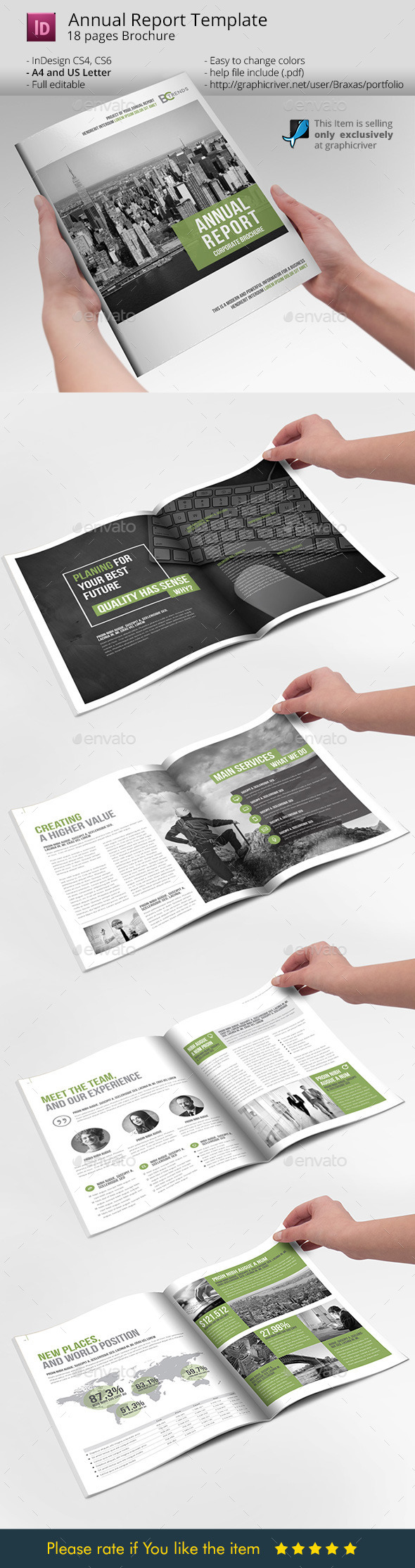 Annual Report Business Brochure Template - Informational Brochures