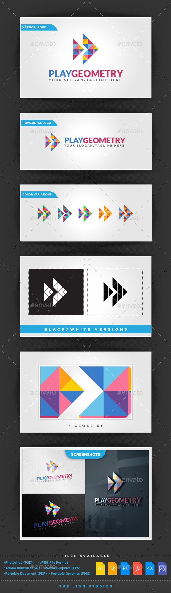Play Geometry  - Abstract Logo Templates