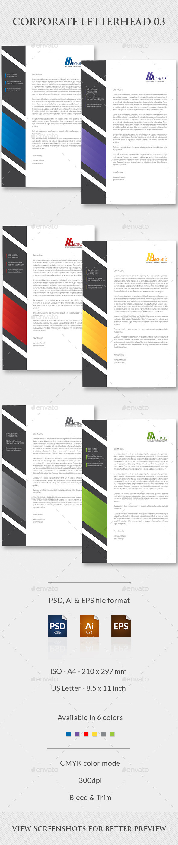 Corporate Letterhead 03 - Stationery Print Templates
