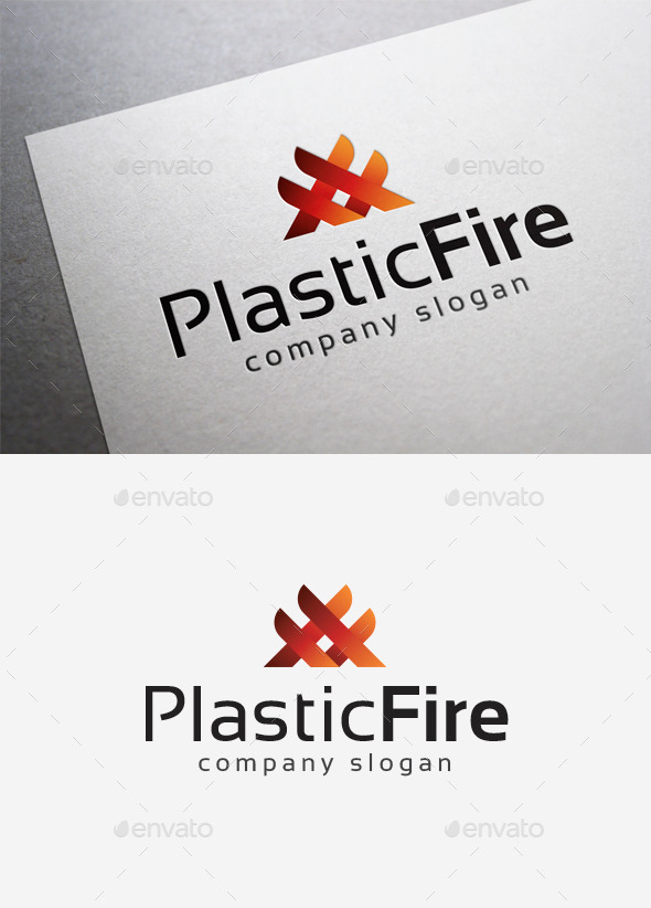 Plastic Fire Logo - Abstract Logo Templates