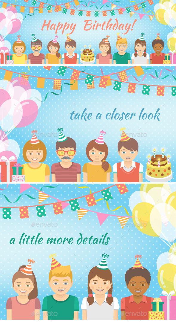 Kids Birthday Party Background - Birthdays Seasons/Holidays