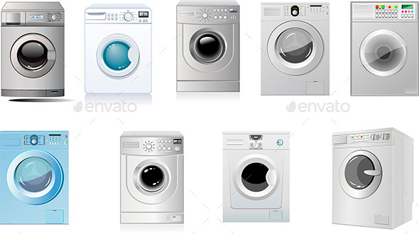 Washing Machines - Man-made Objects Objects