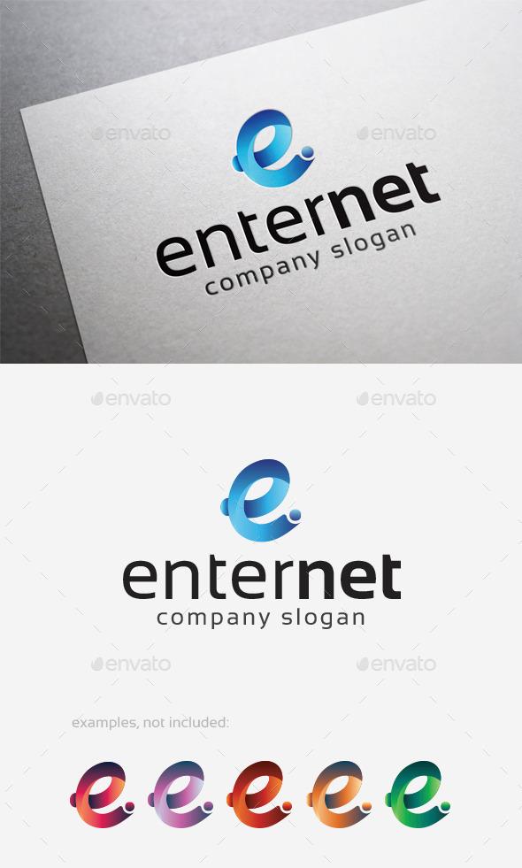Enter Net Logo - Letters Logo Templates