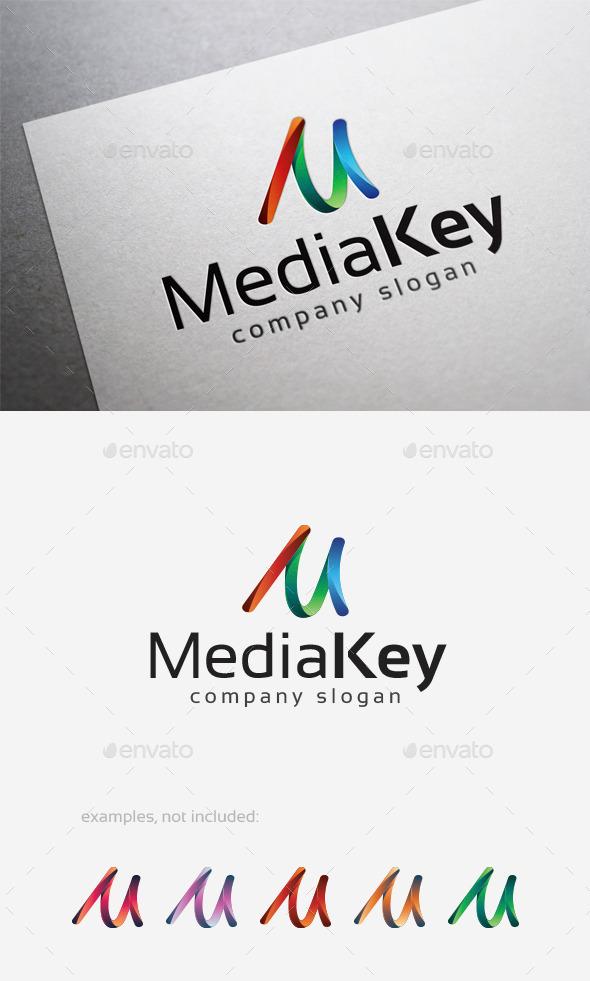 Media Key Logo - Letters Logo Templates