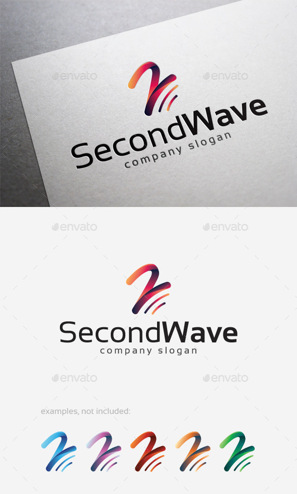 Second Wave Logo - Numbers Logo Templates