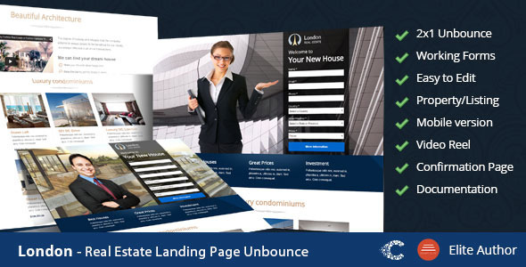 London – Real Estate Landing Page