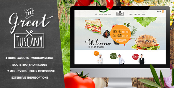 Tuscany – Restaurant Shop Creative WordPress Theme