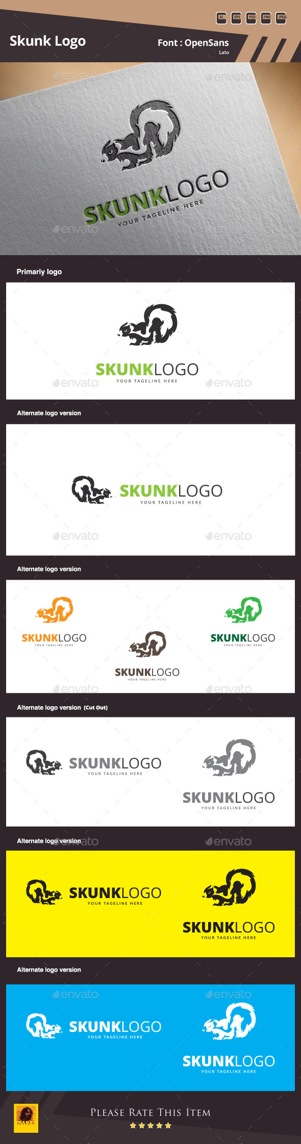 Skunk Logo Template - Animals Logo Templates