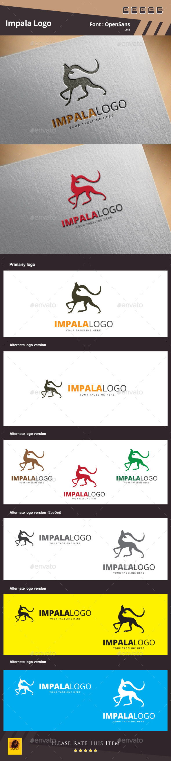 Impala Logo Template - Animals Logo Templates