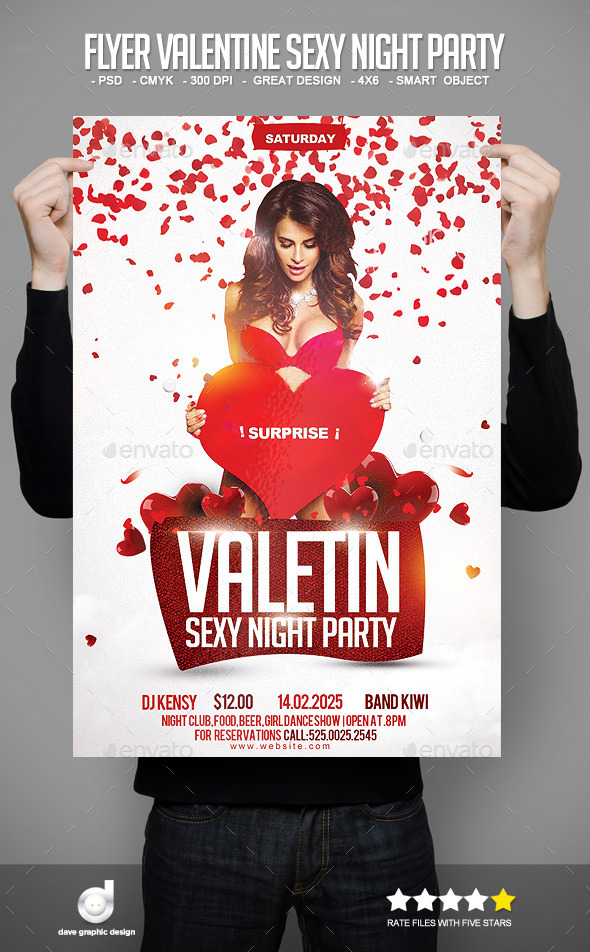 Flyer Valentine Sexy Night Party - Events Flyers