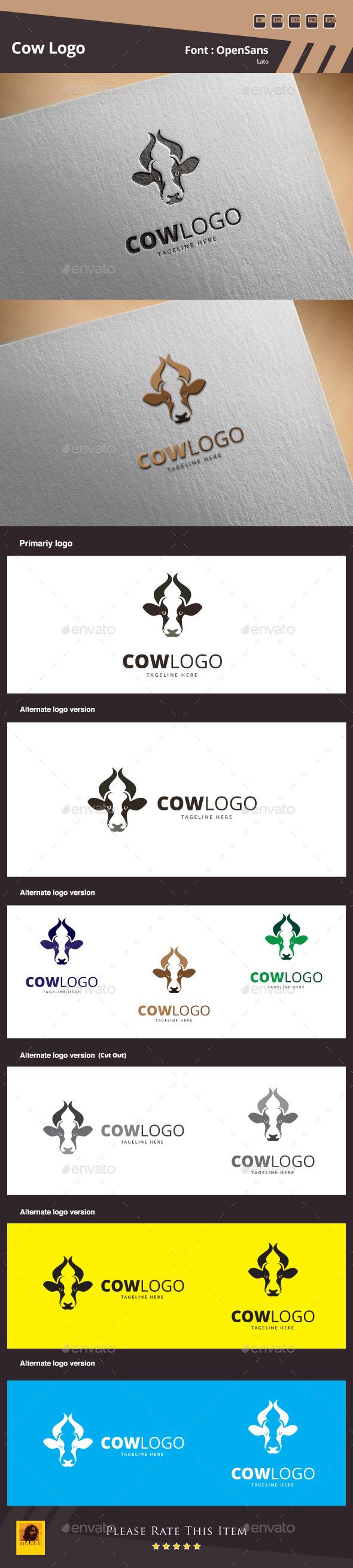 Cow Logo Template - Animals Logo Templates
