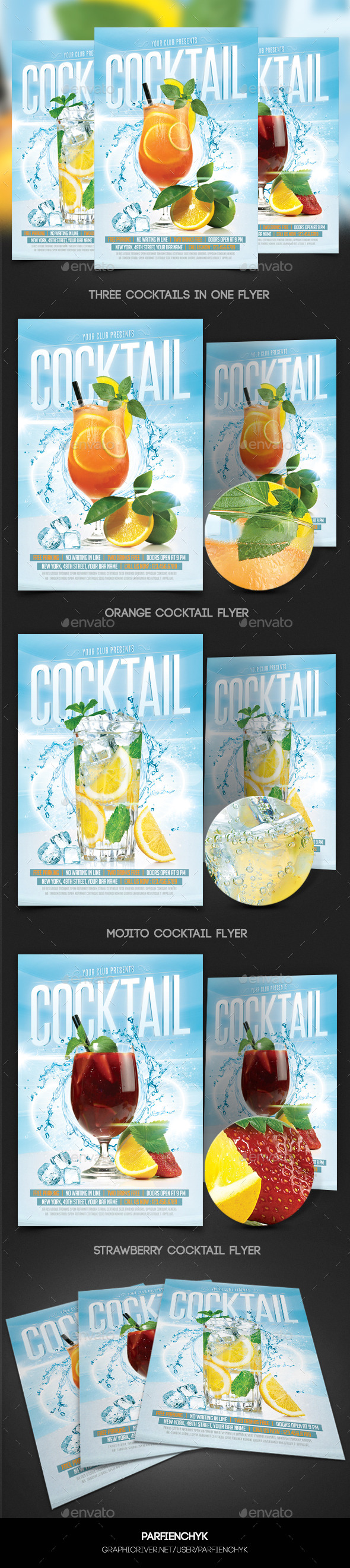 Cocktails Flyer Template - Events Flyers