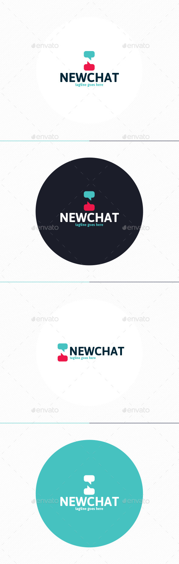 New Chat Logo • Letter N - Letters Logo Templates