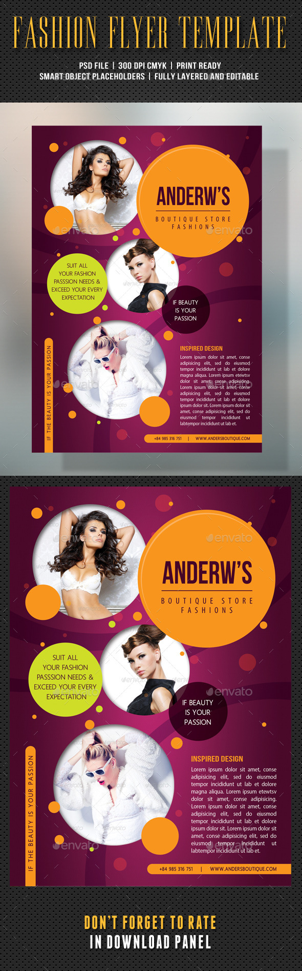 Fashion Product Flyer 60 - Flyers Print Templates