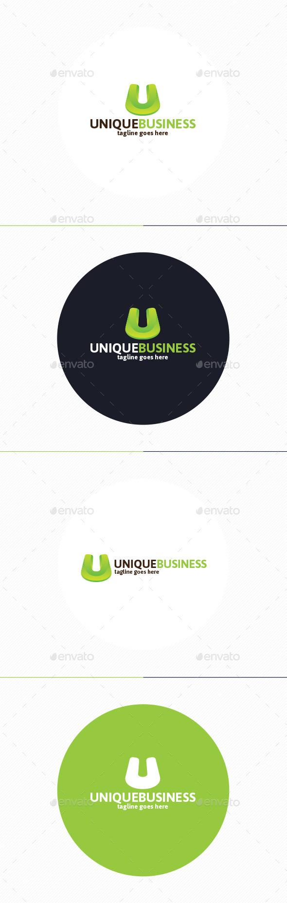 Unique Business Logo • Letter U - Letters Logo Templates