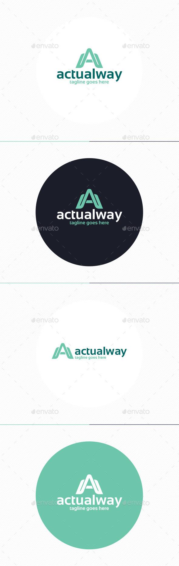 Actual Way Logo • Letter A - Letters Logo Templates