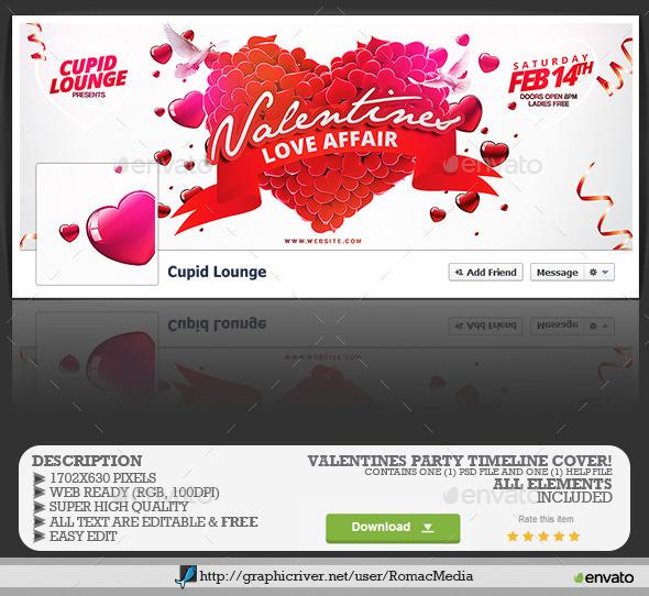 Valentines Party Facebook Timeline Cover  - Facebook Timeline Covers Social Media