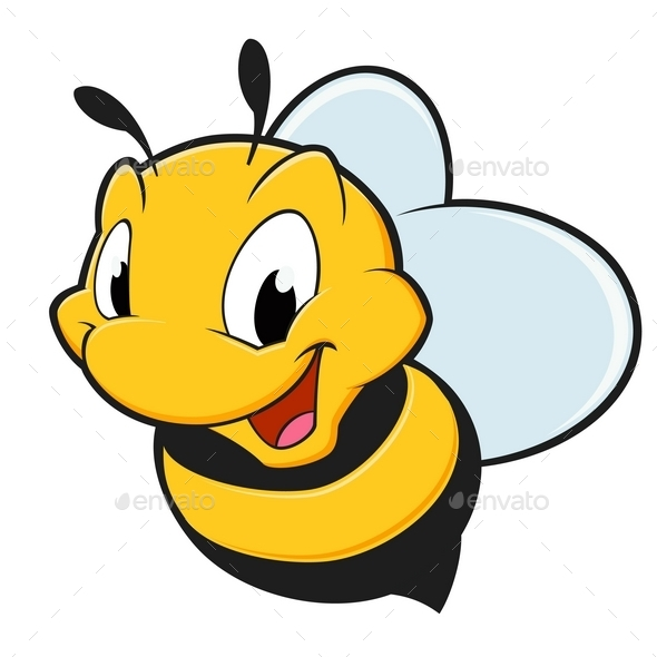 Cartoon Bee - Animals Characters