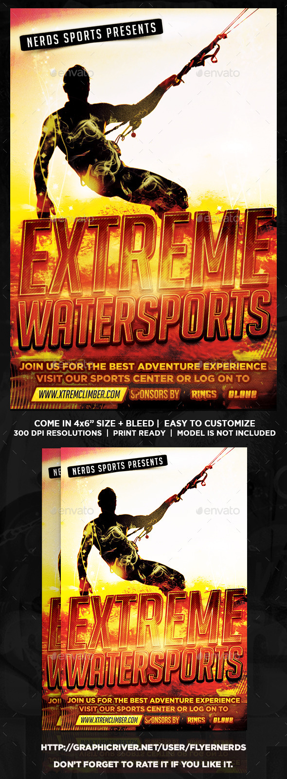 Extreme Watersports Flyer - Sports Events