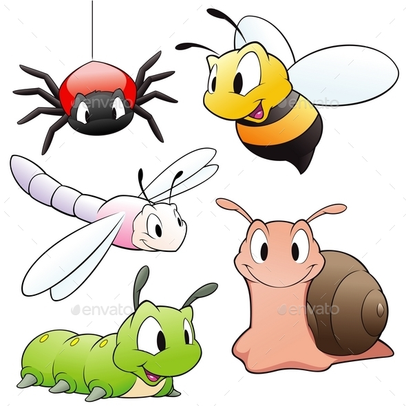 Cartoon Insects - Animals Characters