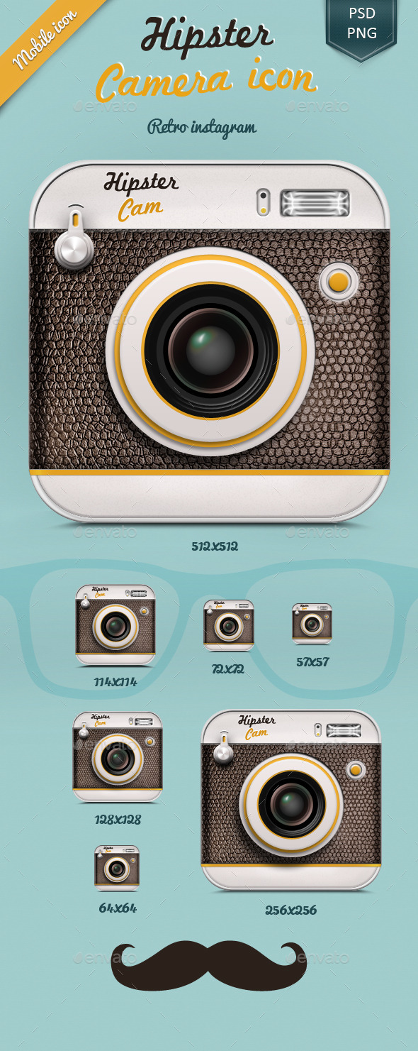 Hipster Camera Icon - Software Icons
