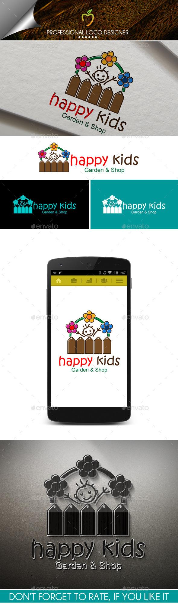 Happy Kids Logo - Objects Logo Templates