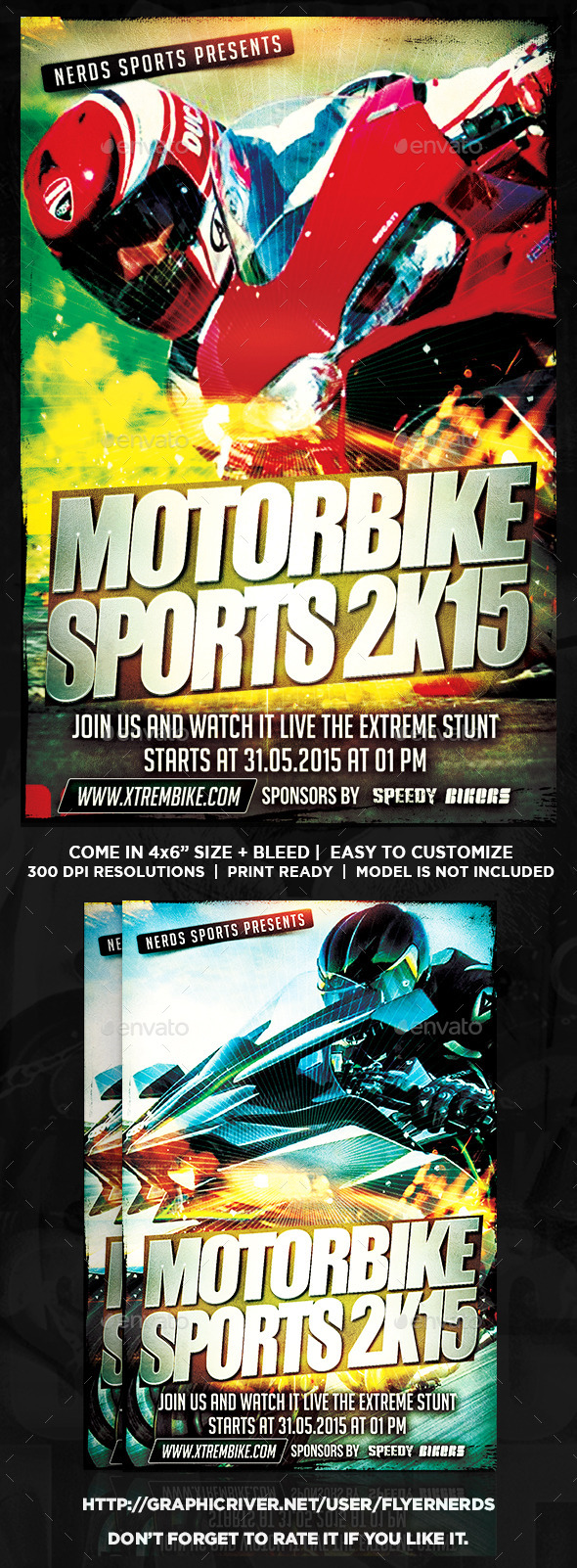 Motorbike 2K15 Sports Flyer - Sports Events