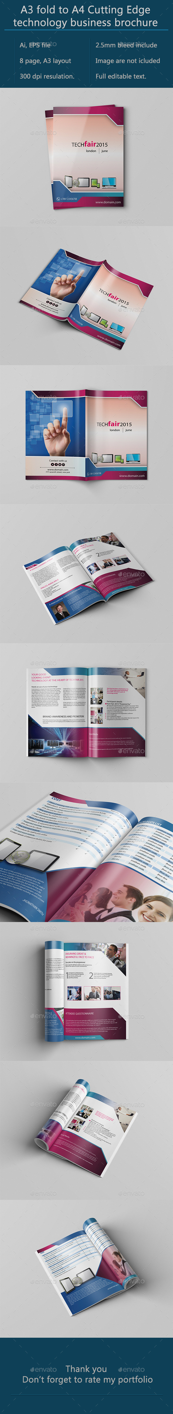 A3 Bifold Technology Brochure - Corporate Brochures