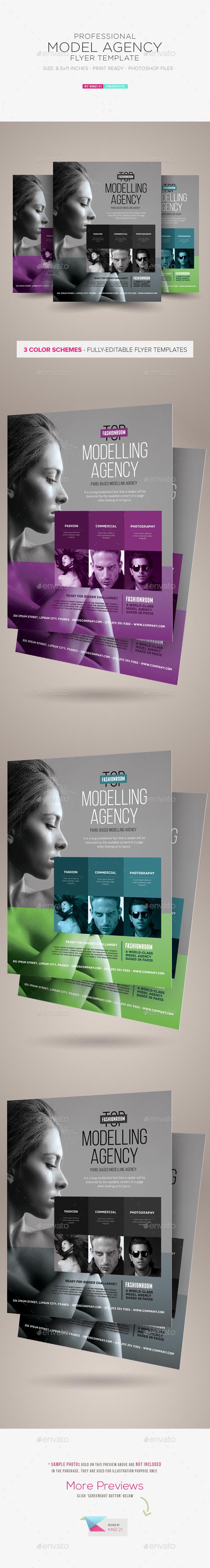 Model Agency Flyer - Corporate Flyers