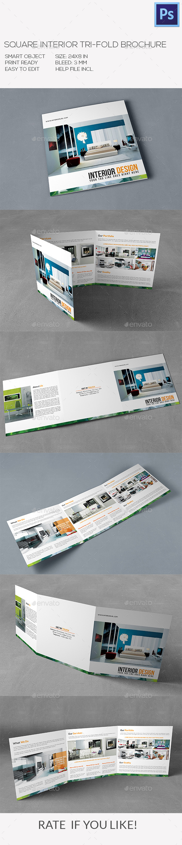 Square Interior Brochure - Corporate Brochures