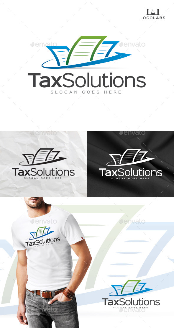 Tax Solutions Logo - Objects Logo Templates