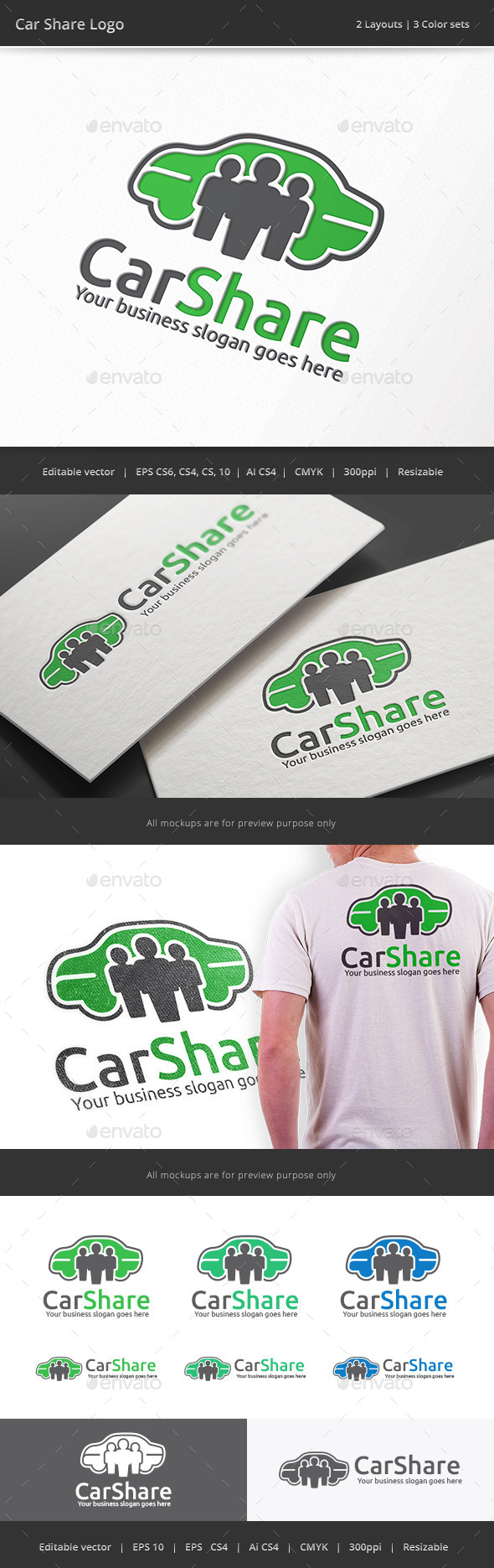 Car Share Logo - Objects Logo Templates