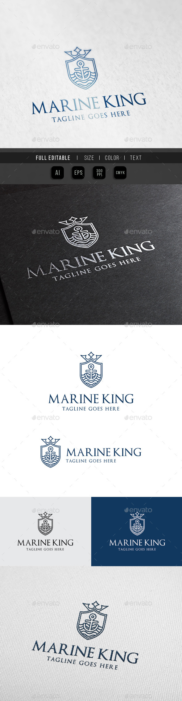 Marine King - Royal Ocean - Crests Logo Templates