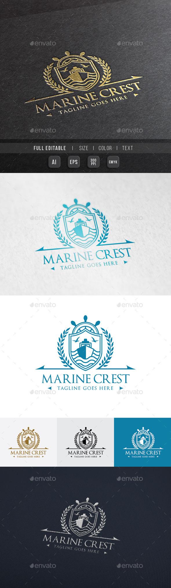 Royal Marine Ship  - Crests Logo Templates