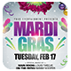 Mardi Gras or Carnival Party Flyer + FB Cover - GraphicRiver Item for Sale