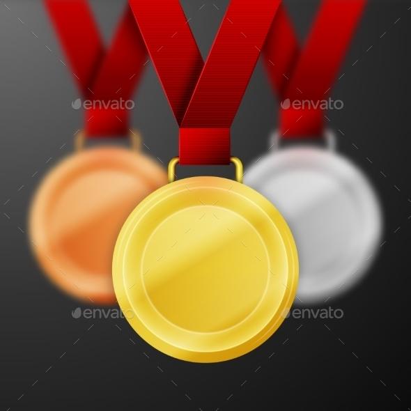 Winner Medals - Health/Medicine Conceptual