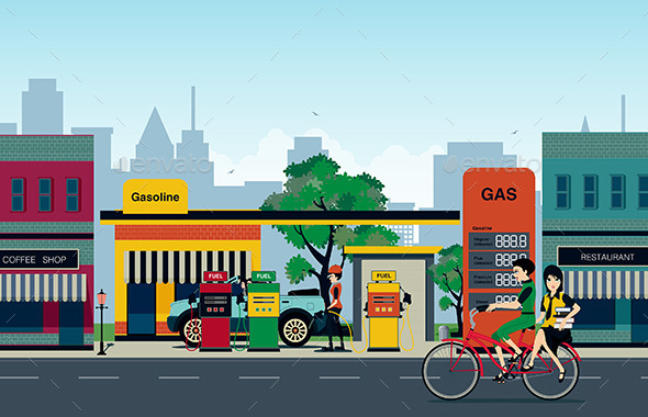 Petrol Station - Buildings Objects