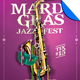 Mardi Gras Jazz Fest Flyer Template - GraphicRiver Item for Sale