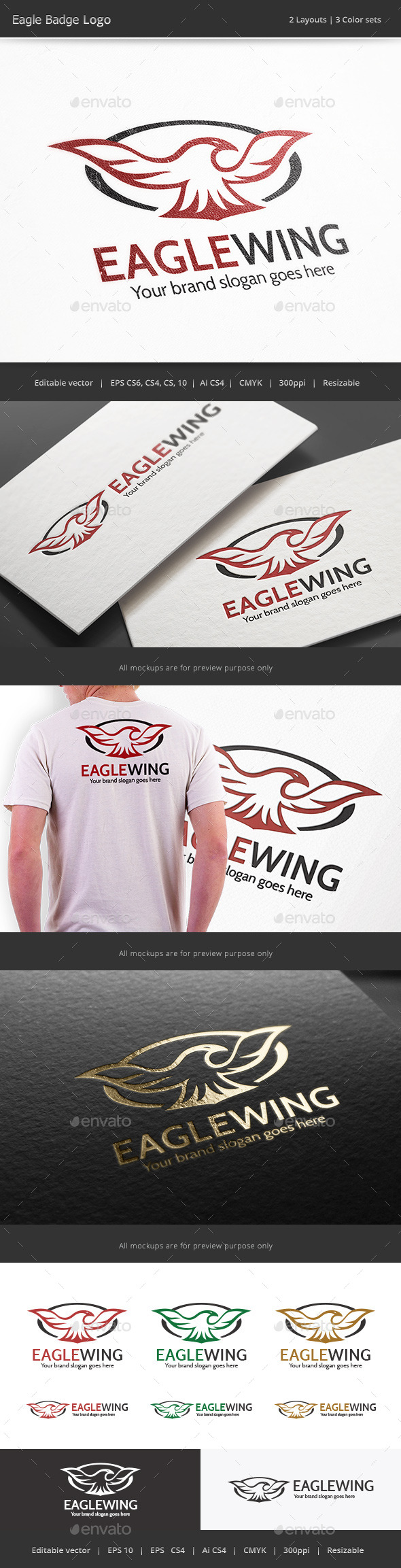 Eagle Badge Logo - Crests Logo Templates