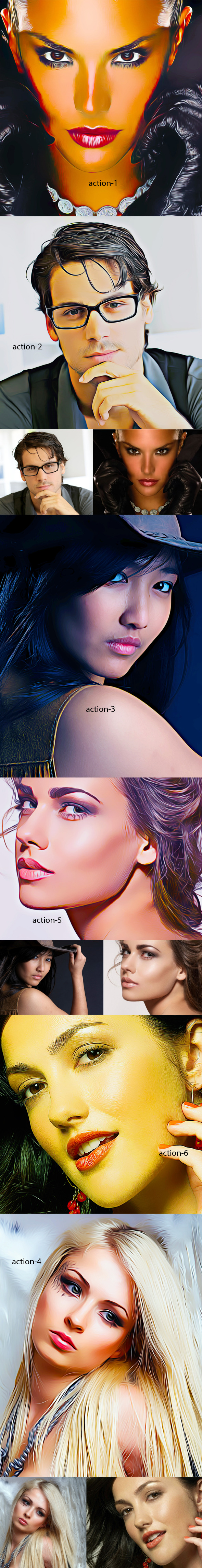 Oil Action -6 - Photo Effects Actions
