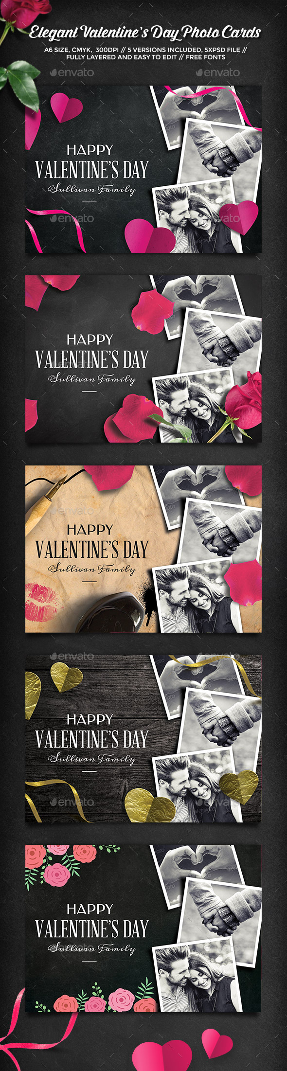 Elegant Valentine's Day Photo Cards - Greeting Cards Cards & Invites