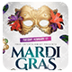 Mardi Gras White Edition Flyer + FB Cover - GraphicRiver Item for Sale