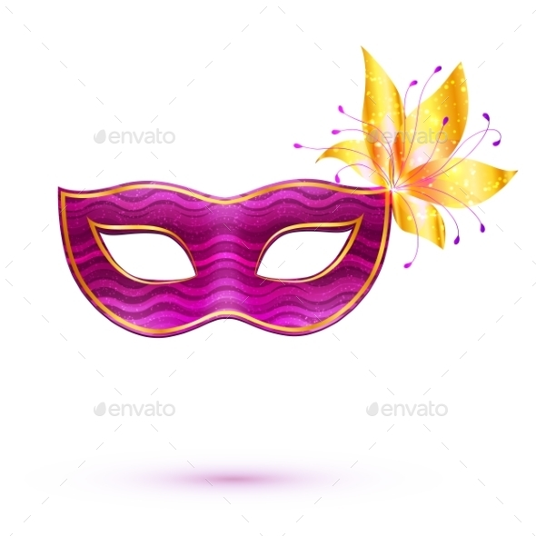 Purple Carnival Mask - Patterns Decorative