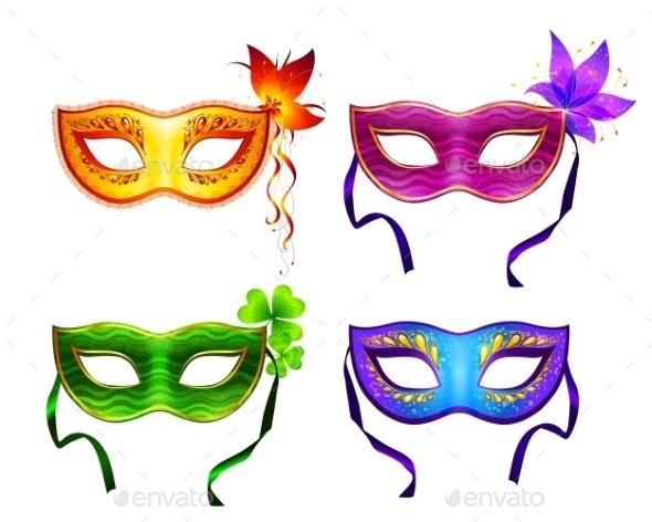 Colorful Carnival Masks Set - Birthdays Seasons/Holidays