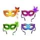 Colorful Carnival Masks Set - GraphicRiver Item for Sale